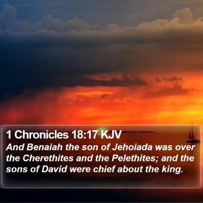 1 Chronicles 18:17 KJV Bible Verse Image