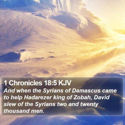 1 Chronicles 18:5 KJV Bible Verse Image