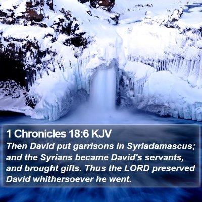 1 Chronicles 18:6 KJV Bible Verse Image