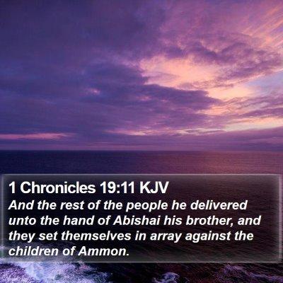 1 Chronicles 19:11 KJV Bible Verse Image