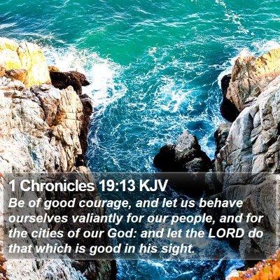 1 Chronicles 19:13 KJV Bible Verse Image