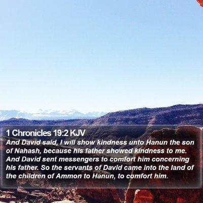 1 Chronicles 19:2 KJV Bible Verse Image