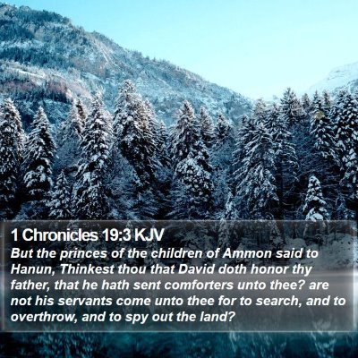 1 Chronicles 19:3 KJV Bible Verse Image