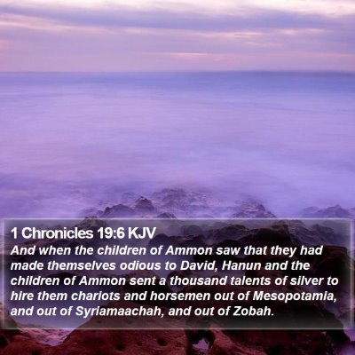 1 Chronicles 19:6 KJV Bible Verse Image