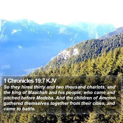 1 Chronicles 19:7 KJV Bible Verse Image