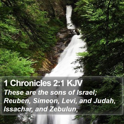 1 Chronicles 2:1 KJV Bible Verse Image