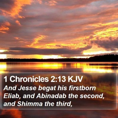 1 Chronicles 2:13 KJV Bible Verse Image