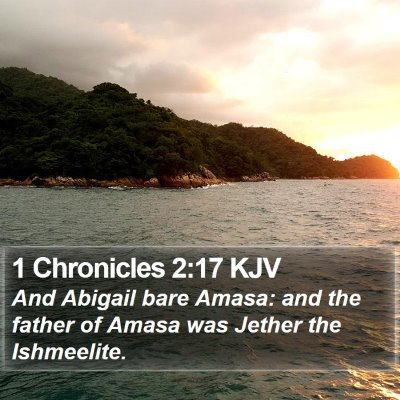 1 Chronicles 2:17 KJV Bible Verse Image