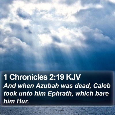 1 Chronicles 2:19 KJV Bible Verse Image