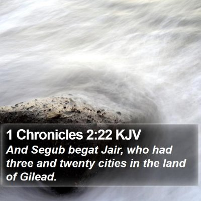 1 Chronicles 2:22 KJV Bible Verse Image