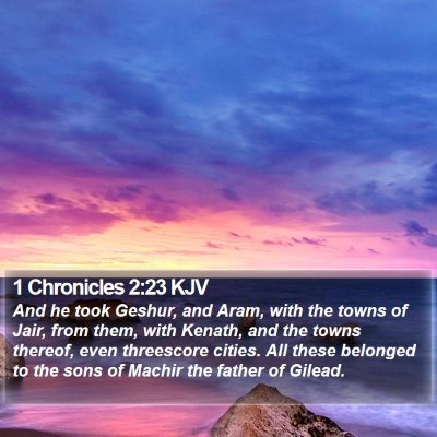 1 Chronicles 2:23 KJV Bible Verse Image