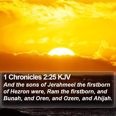 1 Chronicles 2:25 KJV Bible Verse Image