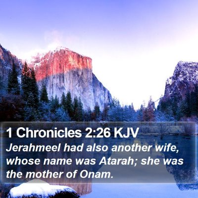 1 Chronicles 2:26 KJV Bible Verse Image