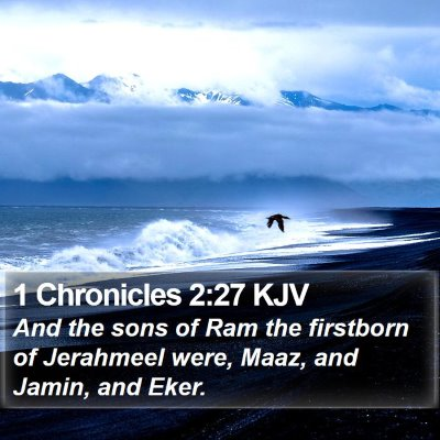 1 Chronicles 2:27 KJV Bible Verse Image