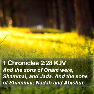 1 Chronicles 2:28 KJV Bible Verse Image
