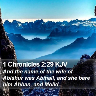 1 Chronicles 2:29 KJV Bible Verse Image