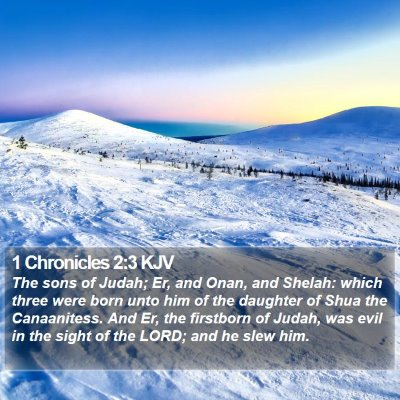 1 Chronicles 2:3 KJV Bible Verse Image