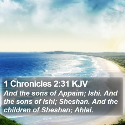1 Chronicles 2:31 KJV Bible Verse Image
