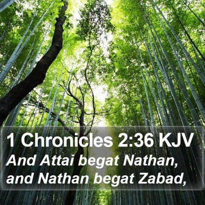 1 Chronicles 2:36 KJV Bible Verse Image