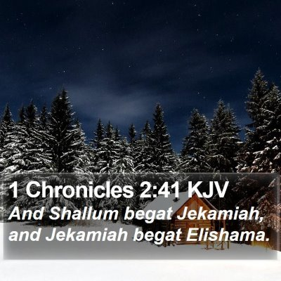 1 Chronicles 2:41 KJV Bible Verse Image