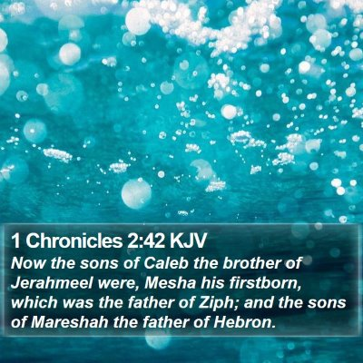 1 Chronicles 2:42 KJV Bible Verse Image