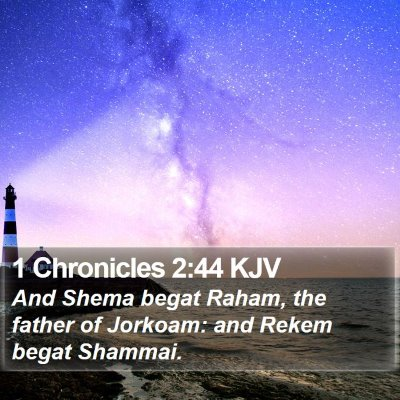 1 Chronicles 2:44 KJV Bible Verse Image