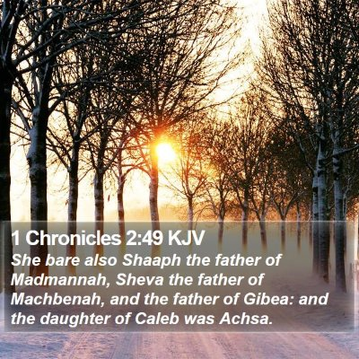 1 Chronicles 2:49 KJV Bible Verse Image