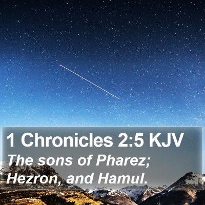 1 Chronicles 2:5 KJV Bible Verse Image
