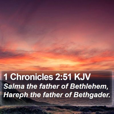 1 Chronicles 2:51 KJV Bible Verse Image