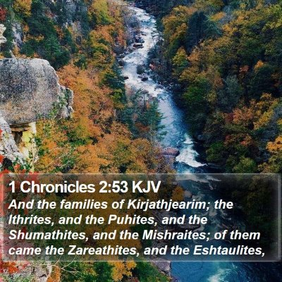 1 Chronicles 2:53 KJV Bible Verse Image