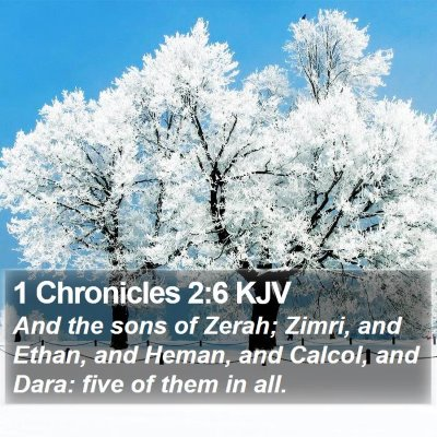 1 Chronicles 2:6 KJV Bible Verse Image