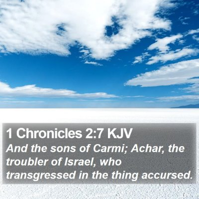 1 Chronicles 2:7 KJV Bible Verse Image