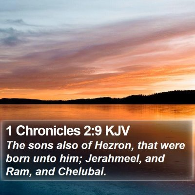 1 Chronicles 2:9 KJV Bible Verse Image