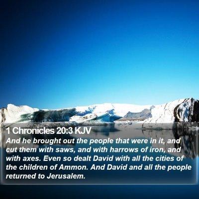 1 Chronicles 20:3 KJV Bible Verse Image