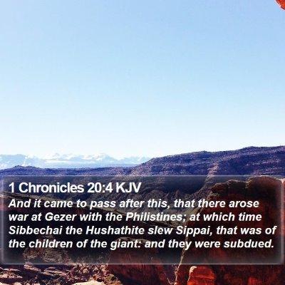 1 Chronicles 20:4 KJV Bible Verse Image
