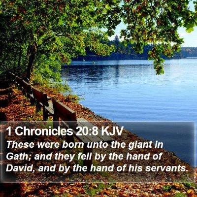 1 Chronicles 20:8 KJV Bible Verse Image
