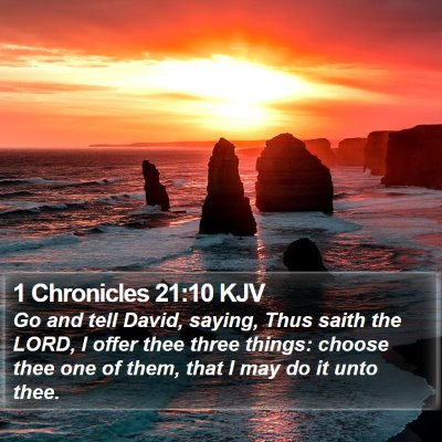 1 Chronicles 21:10 KJV Bible Verse Image