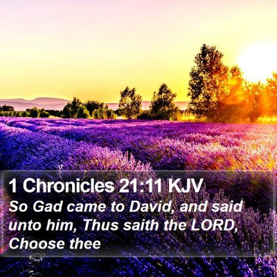 1 Chronicles 21:11 KJV Bible Verse Image