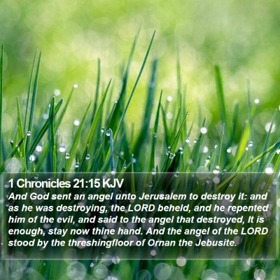 1 Chronicles 21:15 KJV Bible Verse Image