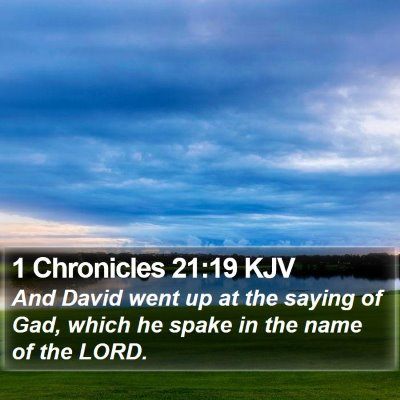 1 Chronicles 21:19 KJV Bible Verse Image