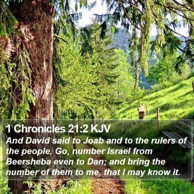 1 Chronicles 21:2 KJV Bible Verse Image