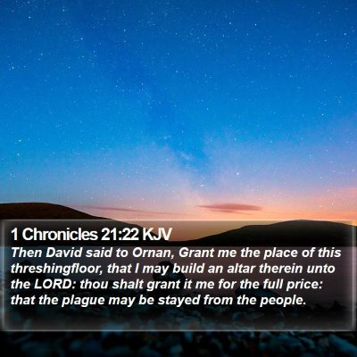 1 Chronicles 21:22 KJV Bible Verse Image