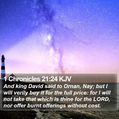 1 Chronicles 21:24 KJV Bible Verse Image