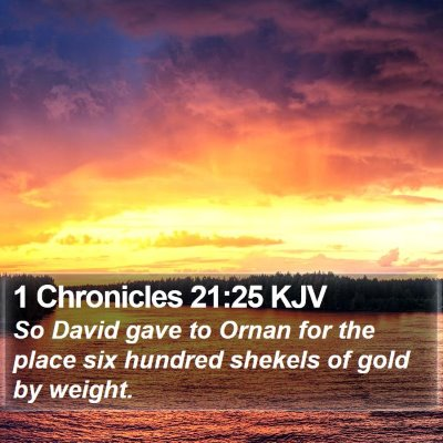 1 Chronicles 21:25 KJV Bible Verse Image