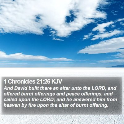 1 Chronicles 21:26 KJV Bible Verse Image