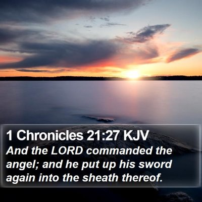 1 Chronicles 21:27 KJV Bible Verse Image