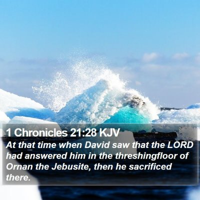 1 Chronicles 21:28 KJV Bible Verse Image