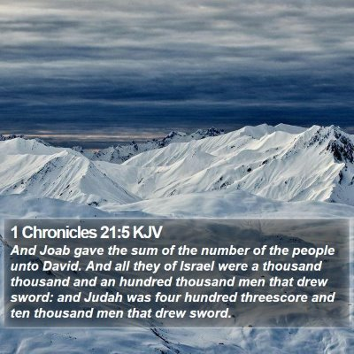 1 Chronicles 21:5 KJV Bible Verse Image
