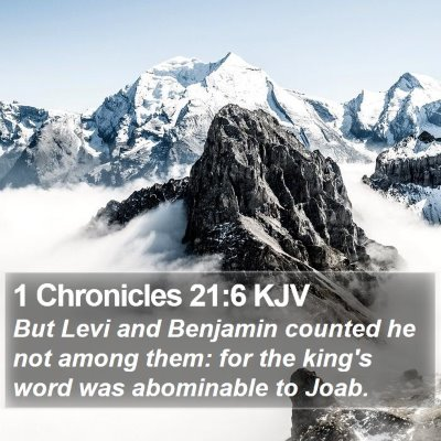 1 Chronicles 21:6 KJV Bible Verse Image