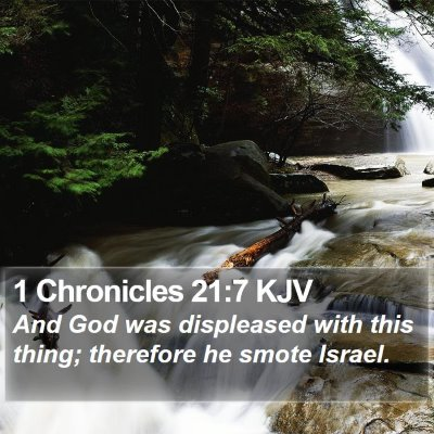 1 Chronicles 21:7 KJV Bible Verse Image